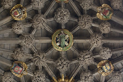 Boss of St Andrew (Lawrence OP) Tags: saint stone scotland edinburgh cross carving ceiling stgilescathedral bosses patron saltire standrew apostle