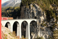 Switzerland - Filisur (Chris&Steve) Tags: 2010switzerland10millionphotosbridge landwasser viaduct filisur 1902 rail train bridge arch railway