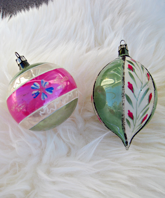 vintage christmas tree ornaments hand painted