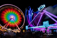 Giant Wheel With New Hydra Salem Fair (Terry Aldhizer) Tags: giant wheel hydra deggeller attractions salem fair long exposure night dark virginia terry aldhizer wwwterryaldhizercom