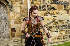 IMG_9486.jpg (Neil Keogh Photography) Tags: silver whitbygothweekend steampunk sword shoulderguards viking brown steampunkdress armguards red warrior goth armour blouse whitby top female woman whitbygothicweekendapril2017 facepaint black gothic trousers leather waistcoat white