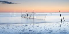 low tide at Rockanje (Just me, Aline) Tags: 201706 9ndhg alinevanweert le leefilter lop rockanje beach eb laagwater langesluitertijd longexposure sea strand sunset visnetten zee zonsondergang littlestopper