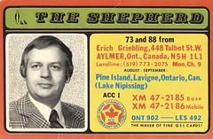 The Shepherd: The Shepherd - Aylmer, Ontario (73sand88s by Cardboard America) Tags: qsl qslcard cb cbradio vintage shepherd pictured artistcard