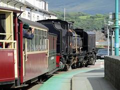 Garratt #87 - Welsh Highland Railway, Porthmadog 2017 (Dave_Johnson) Tags: britanniabridge bridge welshhighlandrailway welshhighland rheilffordderyri rheilffordd eryri whr narrowgaugerailway narrowgauge greatlittletrainsofwales railway rail steamrailway wales steamengine steamtrain steamlocomotive steam train loco locomotive porthmadogharbourstation railwaystation hgg16 ngg16class garratt johncockerillcompany cockerill gwynedd porthmadog photographer