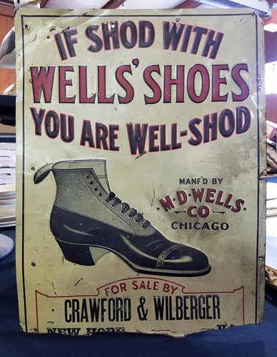 New Hope Store Wells' Shoes Sign ($156.80)