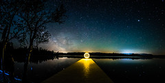 The Extra Terrestrial - the Magic is here!!! (*Capture the Moment*) Tags: 2017 f28 fisheye kirchsee lakekirchsee lichtobjekt lightobject milchstrasse milkyway reflection reflections reflexion sonya7m2 sonya7mii sonya7ii sonyilce7m2 walimexpro