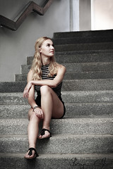 Jenny (Benjamin Czapko) Tags: model shooting fotoshooting blond hotpants sexy stairs passau