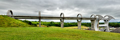 Side view (Geoff Henson) Tags: falkirk wheel canal bridge scotland engineering nikon tokina view panorama stirlingshire