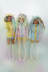Three kittens (nanayinlin7) Tags: bjd mnf fairyland dollclothing