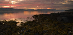 Red sky over the Clyde (Rich3591) Tags: pink sunset red mountains green yellow scotland rocks strathclyde dunoon theclyde challengeyouwinner coastuk justpentax pentaxk20d welcomeuk