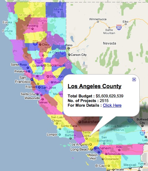 Interactive Map of Federal Stimulus Dollars in California