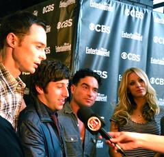 The Big Bang Theory cast (EW/CBS) (MelodyJSandoval) Tags: television sandiego comiccon cbs sdcc entertainmentweekly kaleycuoco jimparsons johnnygalecki simonhelberg thebigbangtheory tbbt