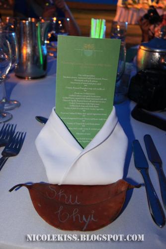name on leaf and menu