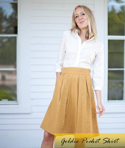Goldie Pocket Skirt