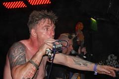 King Kurt, the Gaff, London (sensaos) Tags: music london rock tattoo dance slam concert punk king kurt britain live crowd pit pogo alternative 2010 wrecking psychobilly subculture gaff wreckingpit