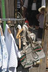 Lederhosen fr alle (im_fluss) Tags: munich mnchen mirror spiegel lederhosen markt auerdult tracht bayerisch bavarianleathertrousers