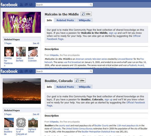 Wikipedia articles on Facebook