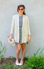 vintage accessories (SimpleThrift) Tags: vintage stripes silk accessories blazer neutral
