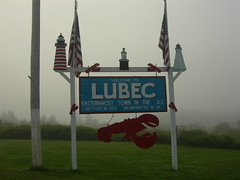 Welcome to Lubec, Maine (jimmywayne) Tags: sign maine welcome lubec citylimit washingtoncounty claimtofame easternmost