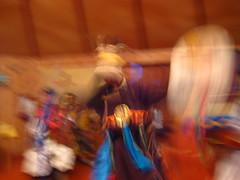 dancer demonstrating shamanic ritual