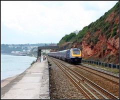 43160 Dawlish (Thrash Merchant) Tags: railroad train canon diesel rail trains seawall devon railways firstgreatwestern mtu hst dawlish highspeedtrain class43 intercity125 firstgroup ic125 fgw eos450d 43160 powercar crosscountrytrains firsttrains dawlishseawall firstgreatwesternhst fgwhst