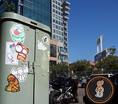 Sticky Bandits vs. San Diego (Question Josh? - SB/DSK) Tags: streetart sticker sandiego stickers bob josh question toro bobwillreign eltoro uwp bwr ticky catv questionjosh stickybandits ceito
