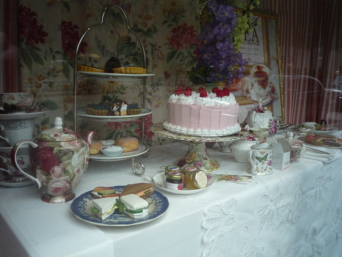 Afternoon Tea: window display at the Fairmont Royal York