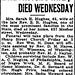Late Pastor's Wife, Sarah Hughes, Dies - December 3, 1924