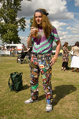 World's Greatest Trousers (Sia A) Tags: worldsbesttrousers patches rock metal music ginger hair curly aerosmith tiedye colourful bandana pint