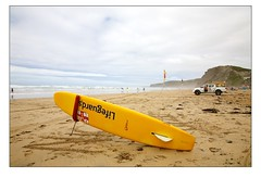 Life Guard Rescue Board and Vehicle - Watergate Bay (Mark-Crossfield) Tags: pictures uk greatbritain sea england rescue beach coast photo sand watergatebay cornwall waves image photos board sandy picture wave lifeguard images surfing safety beaches watergate sandybeach rnli bigwave photosof picturesof rescueboard nearnewquay imagesof watergatebayhotel markcrossfield