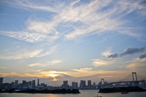 Tokyo skyline at sunset
