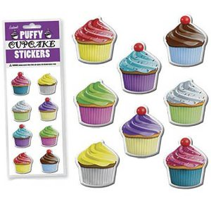 (WISHLIST) puffy cupcake stickers