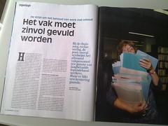 Vrij Nederland over de strijd om het behoud van werk met inhoud