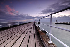 WHITBY PIER (Michael Halliday) Tags: uk coast nikon whitby northyorkshire d90