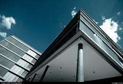 Future is in the sky (yago1.com) Tags: blue windows wallpaper sky urban cloud architecture modern clouds canon schweiz switzerland swiss minimal stadt future architektur build scandal financial zuerich 2010 finance accounting pwc oerlikon mimoa pricewaterhousecoopers newoerlikon eos7d yago1