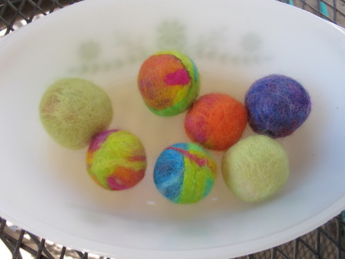 Some new felted balls