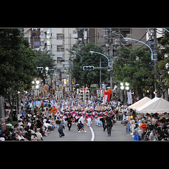 Let the show begin (Laurent T (aka thery_lg)) Tags: street city people urban festival japan tokyo dance tradition matsuri awa awaodori odori koenji