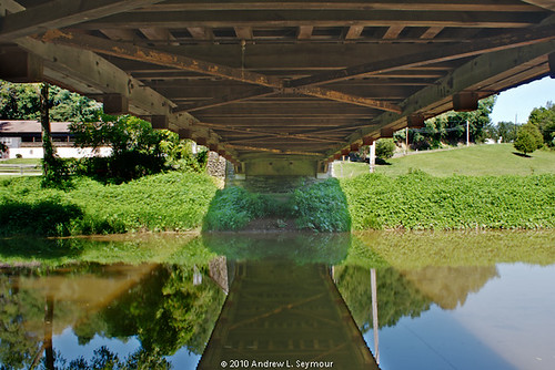 White Rock Forge Covered Bridge (Underneath) hdr 06