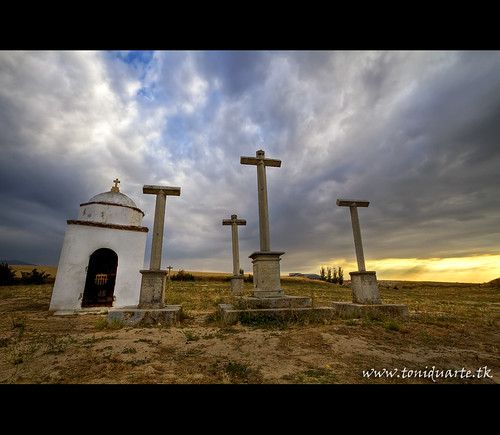 Via crucis en el alto de la piedad,Segovia.
