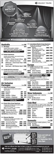 Holiday Tours to Australia, Indonesia, Club Med, Thailand
