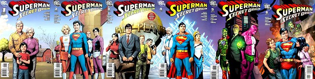 Superman Secret Origin Gary Frank covers 1-6 joined