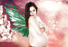 (BayouDoll) Tags: pink baby color green wings nikon pregnancy stomach pregnant belly fairy fantasy tummy fetus fairyland mothertobe newmom 36weeks babybump babyontheway thirdtrimester pregnancyphotography nikond40x 36weeksgestation