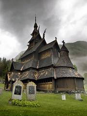 Borgund Stavkyrkje (mac_a_rroni) Tags: norway madera dragon iglesia olympus noruega e3 cristiana stavkirke vikinga borgund sognogfjordane
