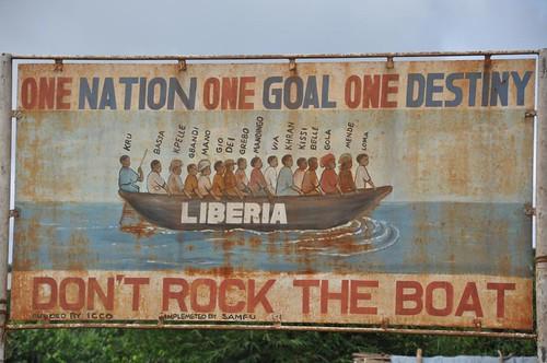 Liberian road sign