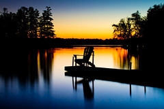 Sunset on Lake Oudaze Muskoka Chair, Ontario, Canada (Christopher Brian's Photography) Tags: sunset ontario canada reflection relax dock cottagecountry muskoka muskokachair sigma1735ex canoneos7d silhouettephotography oudazelake hpccanada