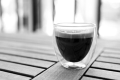 Shot (davegkugler) Tags: bw cup coffee shot bokeh espresso caffeine crema bodum dailyfix 35l 5d2