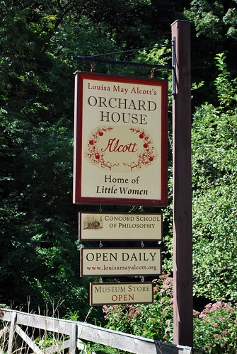 Sign out front of Orchard House
