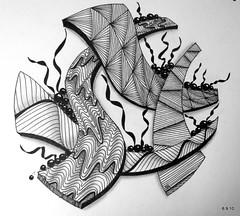 Fall From Grace (Jo in NZ) Tags: pen ink drawing line nzjo zentanlge