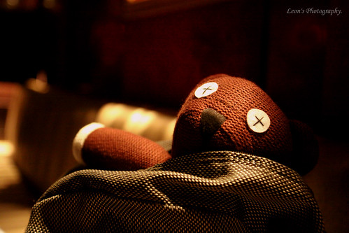 Teddy in my bag.. ><