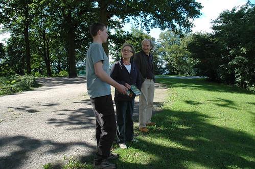 Wir kamen auch mit Spaziergängern ins Gespräch.